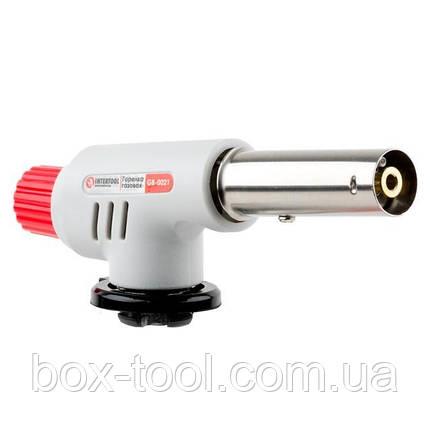 Горелка газовая, пьезозажигание на регуляторе INTERTOOL GB-0021, фото 2