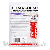 Горелка газовая, пьезозажигание на регуляторе INTERTOOL GB-0021, фото 3