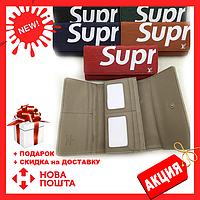 Клатч портмоне LouiS Vuitton Supreme на кнопке унисекс (зеленый, красный, синий, черный), Новинка