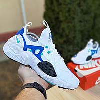 Nike Huarache EDGE белые с синим найк кроссовки мужские кеды
