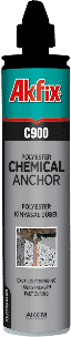 Химический анкер (жидкий дюбель) Akfix C900 на основе полиэстера 300 мл.