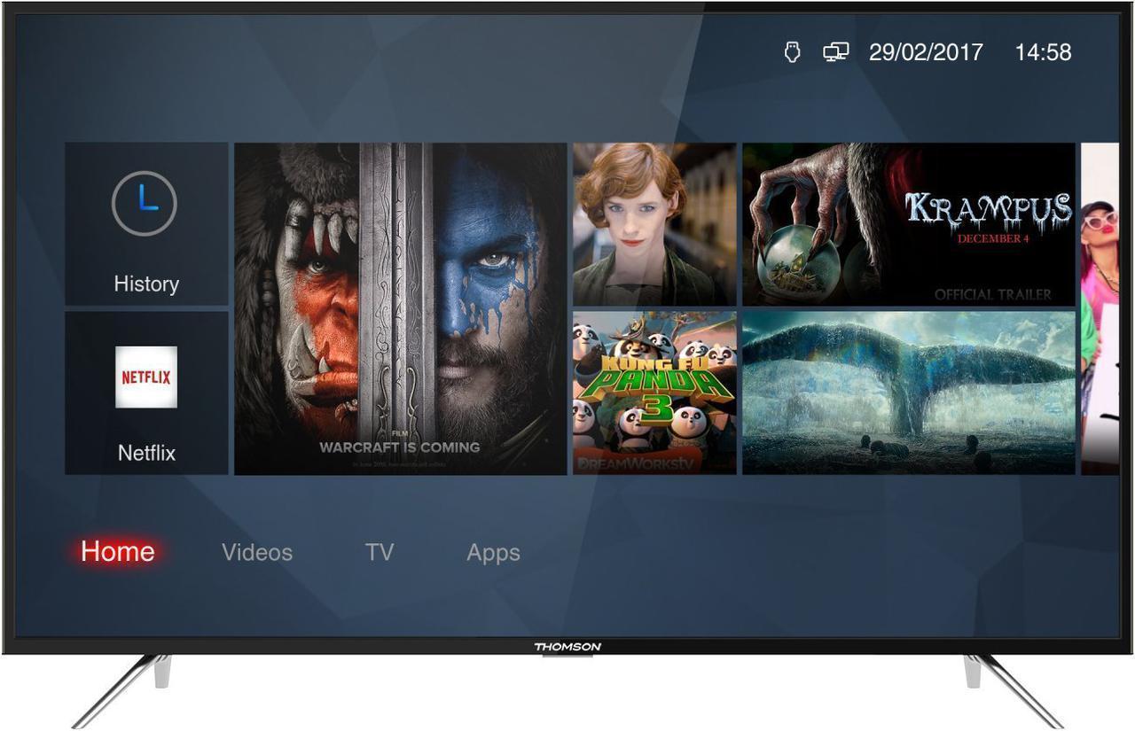 Телевизор Thomson 49US6016 (Smart TV / Android / Ultra HD / 4К / PPI 1200 / Wi-Fi / DVB-C/T/S/T2/S2)