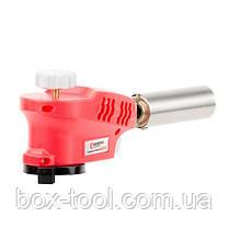 Пальник газовий, п'єзорозпал на гачку, регулятор, розсікач полум'я INTERTOOL GB-0023, фото 3