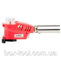 Пальник газовий, п'єзорозпал на гачку, регулятор, розсікач полум'я INTERTOOL GB-0023, фото 2