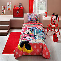 Стеганное покрывало TAC Disney Minnie Tea Time 160×220см + наволочка