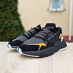 Женские кроссовки Adidas Nite Jogger (черно-оранжевые) 2954, фото 4