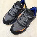 Женские кроссовки Adidas Nite Jogger (черно-оранжевые) 2954, фото 5