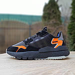Женские кроссовки Adidas Nite Jogger (черно-оранжевые) 2954, фото 7