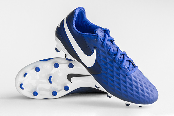 Бутсы футбольные Nike Tiempo Legend 8 Academy FG/MG AT5292-414 Blue (Оригинал)