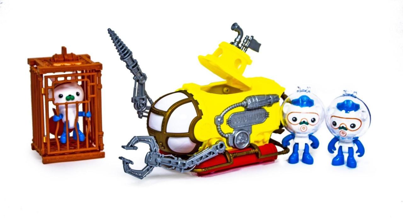 Игровой набор Октонавты \ 3 героя октонавта, батискаф и клетка для погружения scn