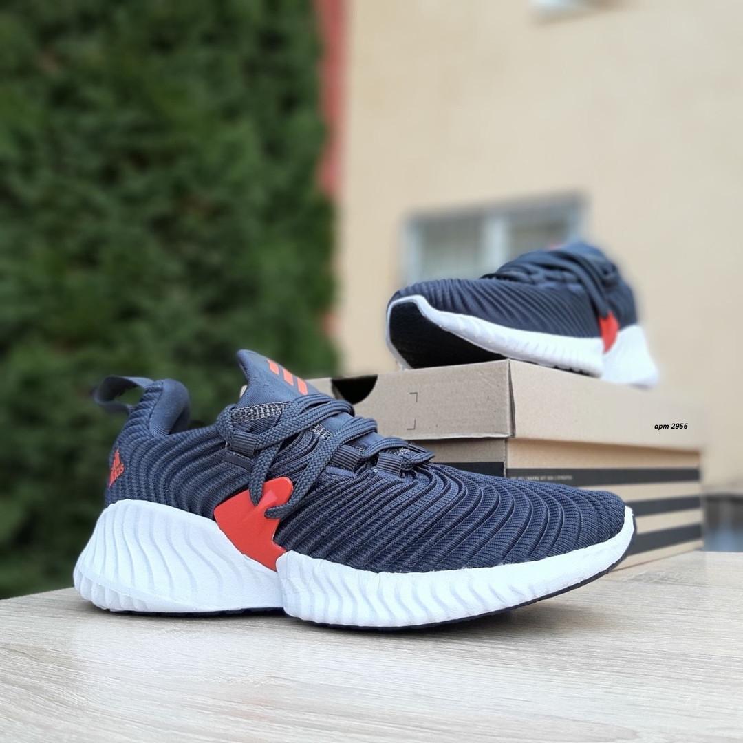 Женские кроссовки Adidas AlphaBounce Instinct (сине-оранжевые) 2956