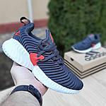Женские кроссовки Adidas AlphaBounce Instinct (сине-оранжевые) 2956, фото 2