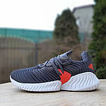 Женские кроссовки Adidas AlphaBounce Instinct (сине-оранжевые) 2956, фото 3
