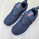 Женские кроссовки Adidas AlphaBounce Instinct (сине-оранжевые) 2956, фото 8