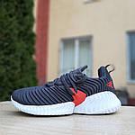 Женские кроссовки Adidas AlphaBounce Instinct (сине-оранжевые) 2956, фото 9