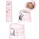 Термос Розовый Фламинго с поилкой и замочком фиксатором 500 мл, фото 10