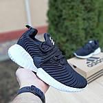 Женские кроссовки Adidas AlphaBounce Instinct (черно-белые) 2957, фото 2
