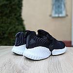 Женские кроссовки Adidas AlphaBounce Instinct (черно-белые) 2957, фото 3