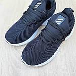 Женские кроссовки Adidas AlphaBounce Instinct (черно-белые) 2957, фото 7