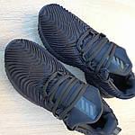 Мужские кроссовки Adidas AlphaBounce Instinct (черные) 1950, фото 8