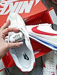Мужские кроссовки Nike Cortez (бело-красные) 288PL, фото 2