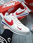 Мужские кроссовки Nike Cortez (бело-красные) 288PL, фото 3
