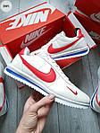 Мужские кроссовки Nike Cortez (бело-красные) 288PL, фото 4