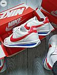 Мужские кроссовки Nike Cortez (бело-красные) 288PL, фото 5
