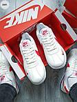 Мужские кроссовки Nike Cortez (бело-красные) 288PL, фото 6