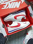 Мужские кроссовки Nike Cortez (бело-красные) 288PL, фото 7