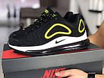 Мужские кроссовки Nike Air Max 720 (черно-белые с желтым) 8928, фото 2