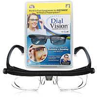 Универсальные очки-лупа для зрения Dial Vision с регулировкой диоптрии линз от -6 до +3 для чтения