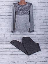 Спортивный костюм из трикотажа ангора-софт с сублимацией на ткани (тёмно-серый)