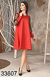 Свободное женское платье рукава из сетки 42-44,46-48, фото 4