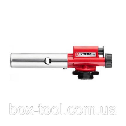 Пальник газовий, п'єзорозпал, регулятор, суцільнометалевий корпус. INTERTOOL GB-0027, фото 2