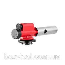 Пальник газовий, п'єзорозпал, регулятор, суцільнометалевий корпус. INTERTOOL GB-0027, фото 3