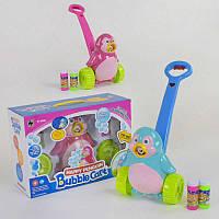 """Мыльные пузыри каталка """"Пингвин"""" FH 776 (18) 2 цвета, мелодия, подсветка, коробке"""