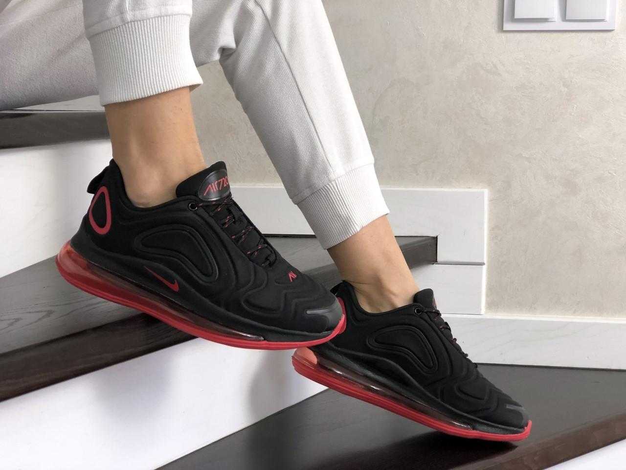 Женские кроссовки Nike Air Max 720 (черно-красные) 8937