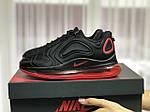 Женские кроссовки Nike Air Max 720 (черно-красные) 8937, фото 3