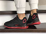 Женские кроссовки Nike Air Max 720 (черно-красные) 8937, фото 4