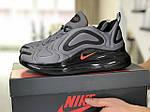 Мужские кроссовки Nike Air Max 720 (серо-черные) 8941, фото 2