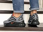 Мужские кроссовки Nike Air Max 720 (серо-черные) 8941, фото 3