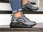 Мужские кроссовки Nike Air Max 720 (серо-черные) 8941, фото 4