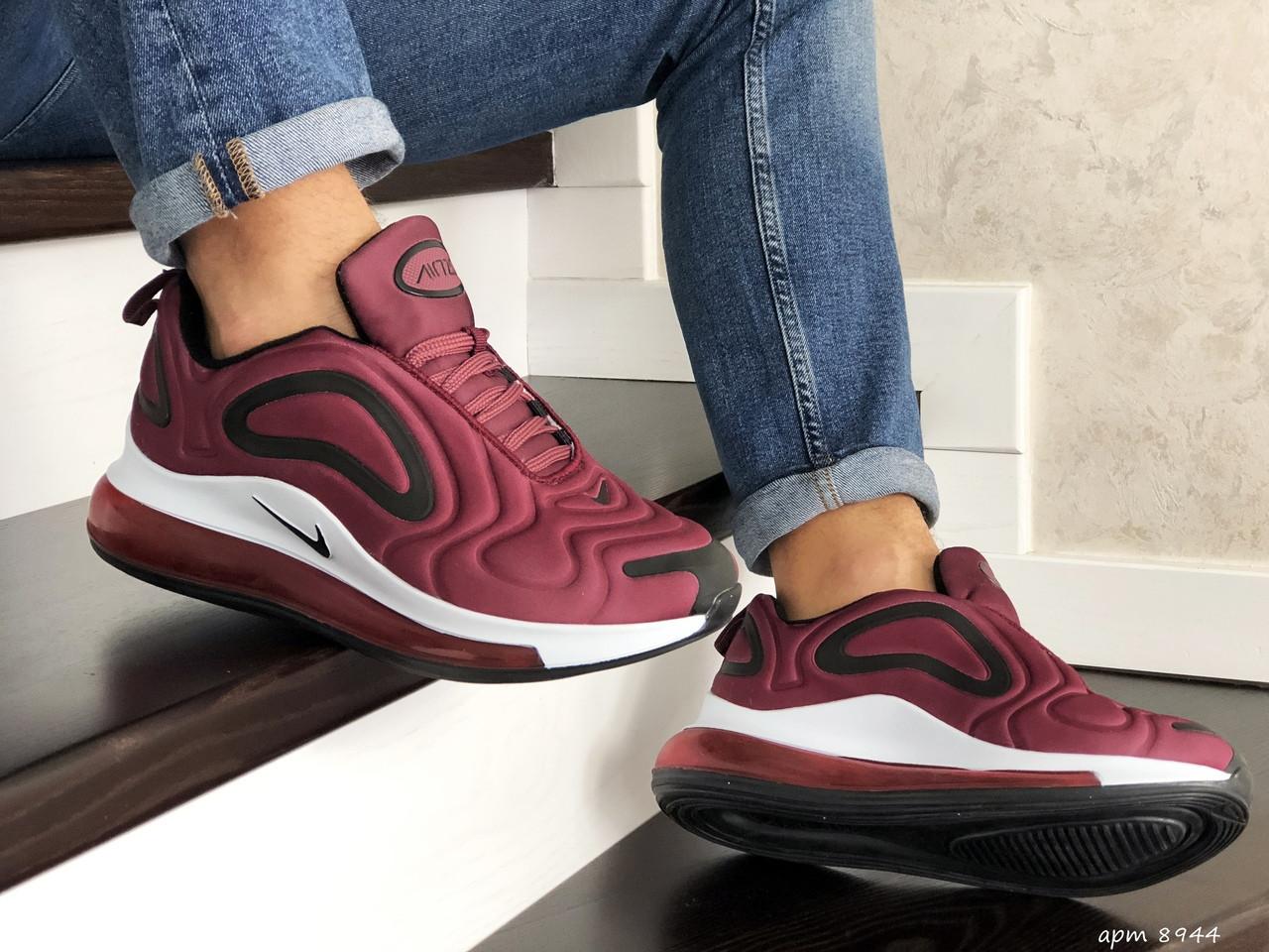 Мужские кроссовки Nike Air Max 720 (бордовые) 8944