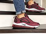 Мужские кроссовки Nike Air Max 720 (бордовые) 8944, фото 2