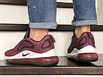 Мужские кроссовки Nike Air Max 720 (бордовые) 8944, фото 4