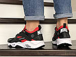 Чоловічі кросівки Nike Huarache Fragment Design (чорно-білі з червоним) 8952, фото 2