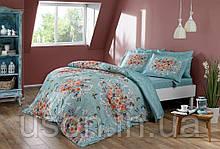 Комплект постельного белья Тм Тас сатин digital полуторный размер Alanis goluboy