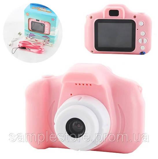 Детский фотоаппарат gm 14 розовый