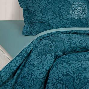 Постельное белье Вирджиния бирюзовая поплин ТМ Царский дом  (Семейный), фото 2